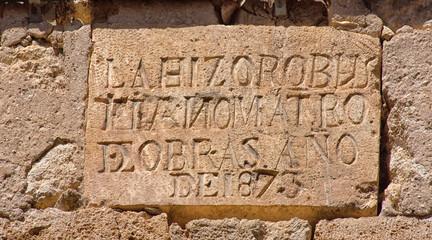 leyenda en edificio de maderuela, Segovia