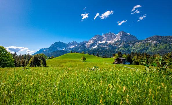 Idyllic alpine scenery, Kitzbühel, Tyrol, Austria