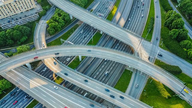 Interstate Interchange Aerial