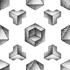 vector engraving vintage seamless pattern.
