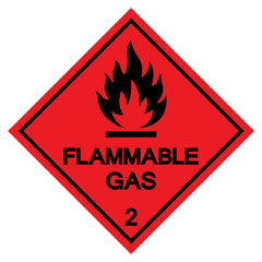 Flammable Gas Symbol Sign ,Vector Illustration, Isolate On White Background Label .EPS10
