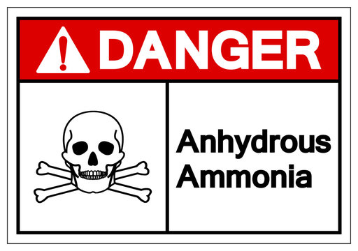 Danger Anhydrous Ammonia Symbol Sign, Vector Illustration, Isolate On White Background Label. EPS10