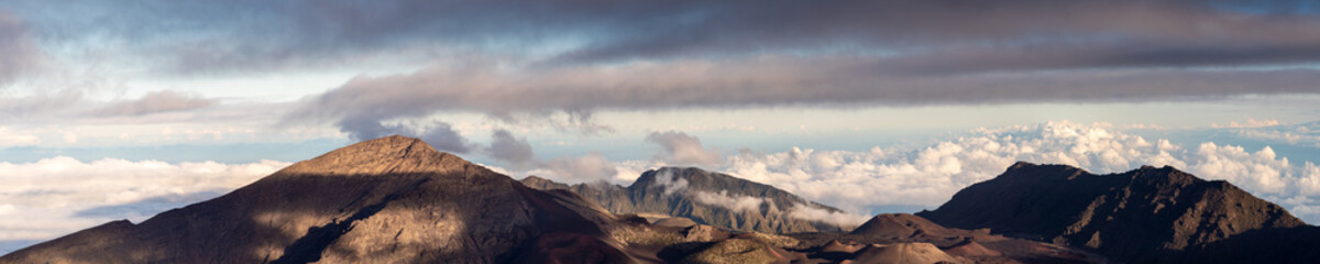 Panorama of the Haleakala crater