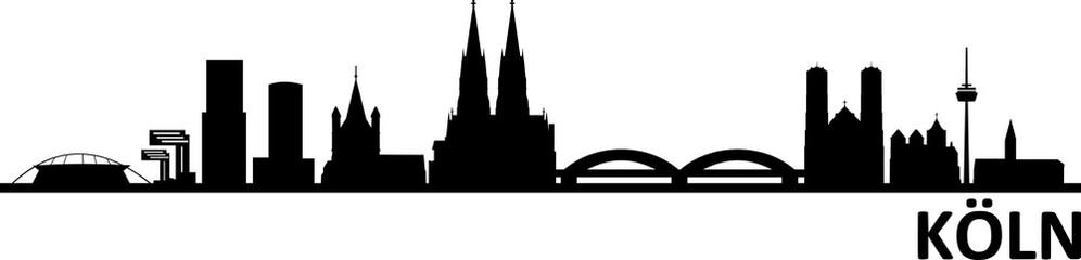 Fototapete - Köln Cologne City Skyline
