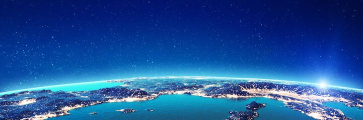 Mediterranean city lights
