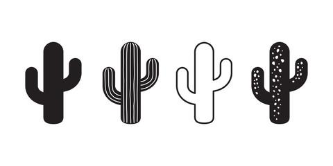 Fototapeta cactus icon vector logo symbol desert flower botanica plant garden summer tropical illustration doodle obraz