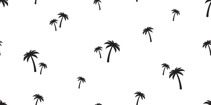 palm tree seamless pattern vector coconut tree island tropical summer beach tile background scarf isolated repeat wallpaper ocean illustration