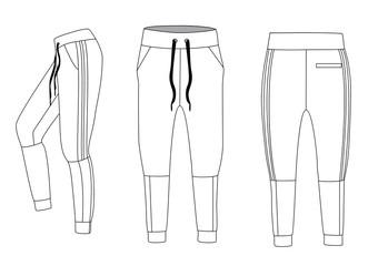 Fototapeta vector illustration of joggers. men's sporty trousers vector obraz