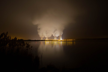Foto op Canvas Onweer the towers of cattenom