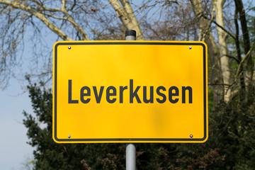 Leverkusen Ortsschild