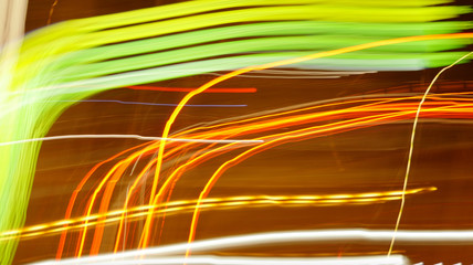 Light Beams Stripes Flashing in the Night Electric Stream Flow Background