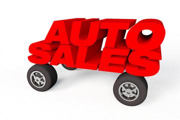 Auto sales logo on car whells