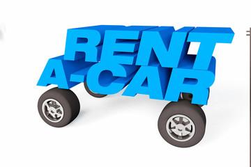 rent a car, rental logo or symbol