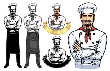 Standing Male Chef Full Body_Vector EPS 10