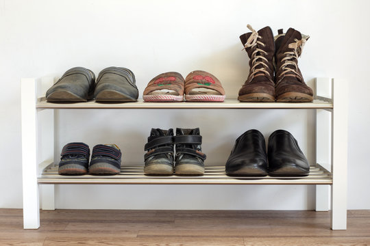 Shoe shelf at home