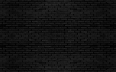 Black color brick wall for brickwork background design .
