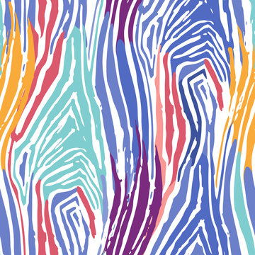 Abstract repeated seamless pattern of striped zebra skin