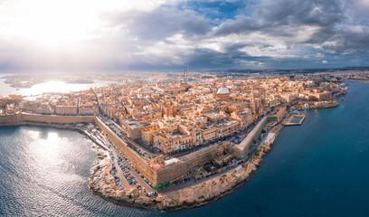City of Valletta, capital of Malta, aerial view, island in Mediterranean sea Wall mural