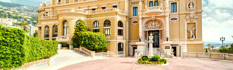 Panoramic view of The Monte-Carlo Casino and Opera House, Monaco