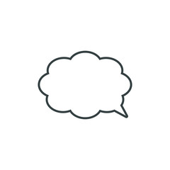 Fototapeta Speech bubble, speech balloon, chat bubble vector icon for apps and websites