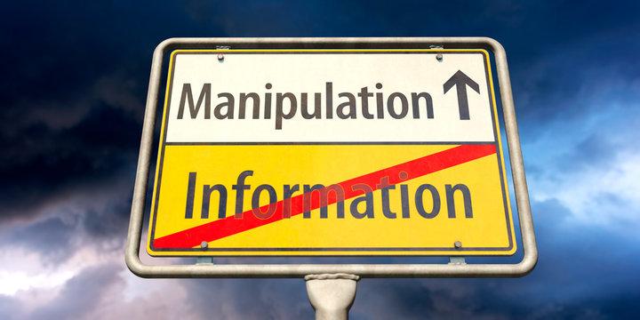 Manipulation statt Information