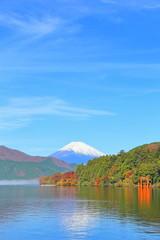 日本の風景・観光・旅行 箱根・芦ノ湖からの富士山