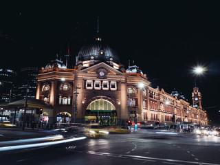Papiers peints Pleine lune Flinders Street Station