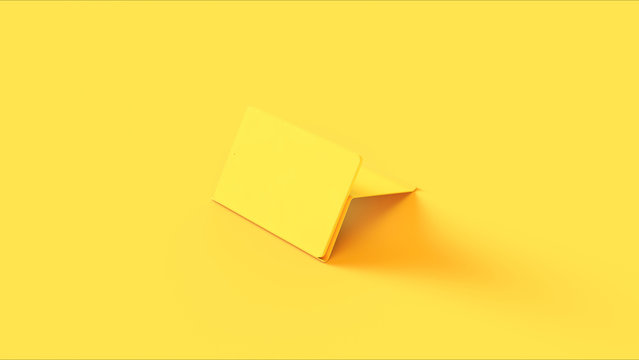 Yellow Tablet on a Stand 3d illustration