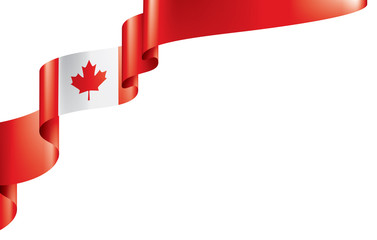 Canada flag, vector illustration on a white background Fototapete