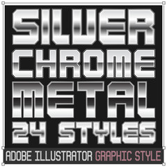 Silver and Chrome Metal Graphic Styles for adobe illustrator CS5 version