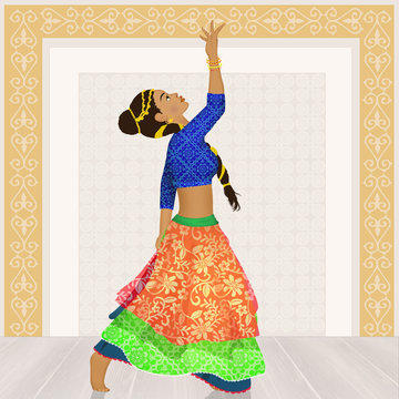 woman dancing the Bollywood Indian dance