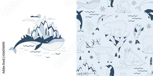 Magical childish pajamas graphics set with t-shirt print and