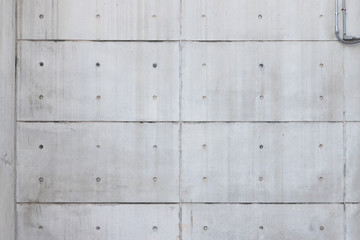 bare concrete wall with symmetry line, free copy space for text. pre cast concrete panel.
