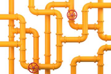 3D Illustration gelbe Rohre