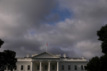 A general view of the morning sky over the White House in Washington