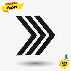 arow flat icon illustration. arow isolated sign. arow vector illustration