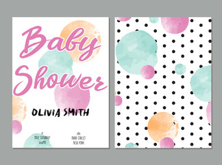 Door stickers Retro sign baby shower card