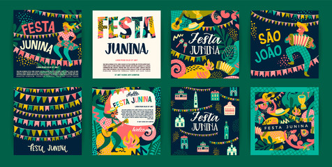Latin American holiday, the June party of Brazil. Festa Junina.