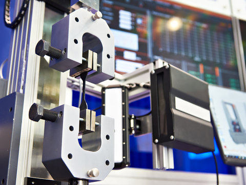 Electromechanical machines for testing metal for tensile