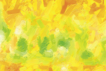 Colorful oil painting hand-painted art illustration : abstract texture on canvas, background (High-resolution 2D CG illustration)