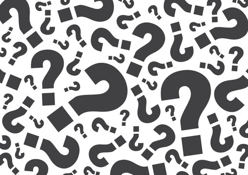 random Gray question mark for background, vector illustration