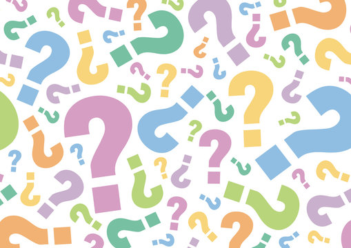Question mark sign pastel Color pattern on white background, Vector illustration