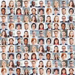 Portrait Collage von Geschäftsleuten als Team Konzept