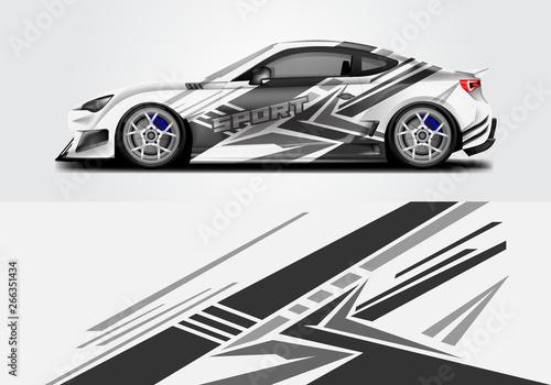 Car wrap livery decal vector , supercar, rally, drift