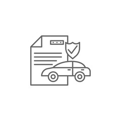 Car insurance icon. Element of auto service icon. Thin line icon for website design and development, app development. Premium icon