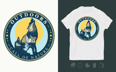 a67dabbc1 Wolf double exposure. Tattoo and t-shirt design. Symbol tourism ...
