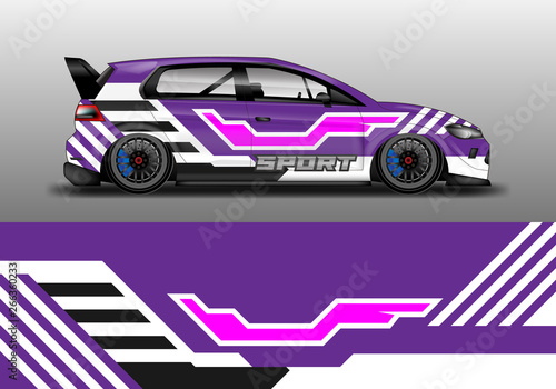 Car wrap graphic vector  Abstract stripe racing background