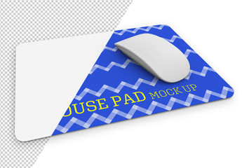 Rectangular Mouse Pad Mockup with Mouse