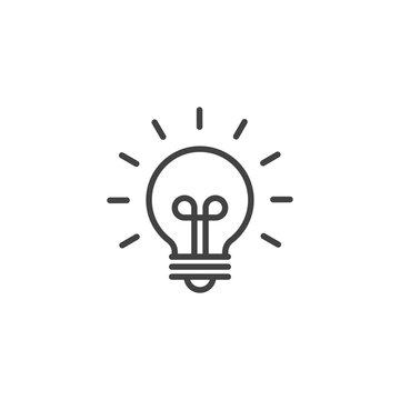 Innovation or innovative idea symbol. Linear icon.