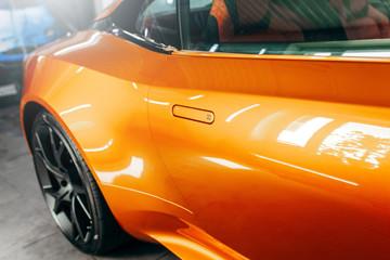 Car door handle orange color for customers